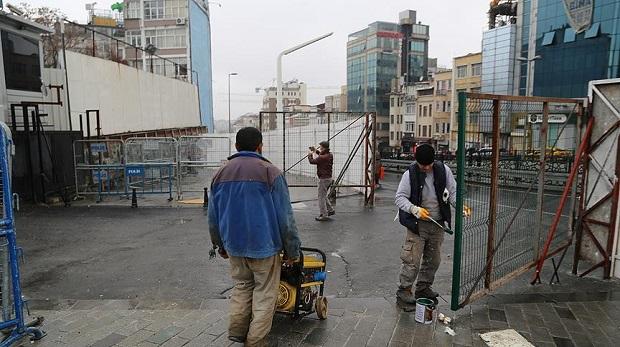 Taksim camii için şantiye kuruluyor
