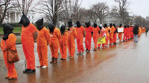 ABD'DE, 10. Yılında Guantanamo'yu Protesto Etti