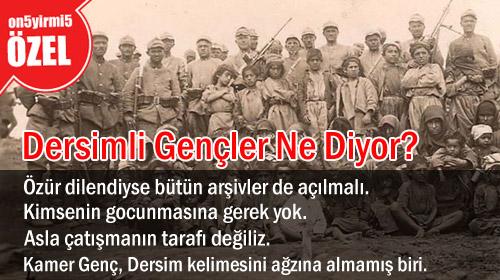 Dersim'li Gençler: CHP de Özür Dilesin!
