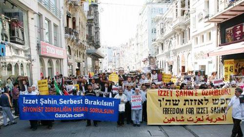 İsrail'e İzzet Şahin Protestosu