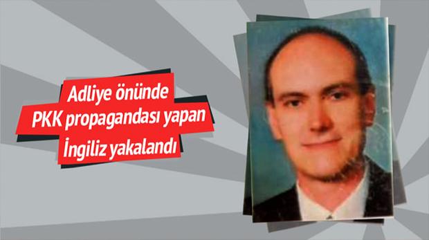 İngiliz cüreti! PKK lehine bildiri dağıtırken gözaltı