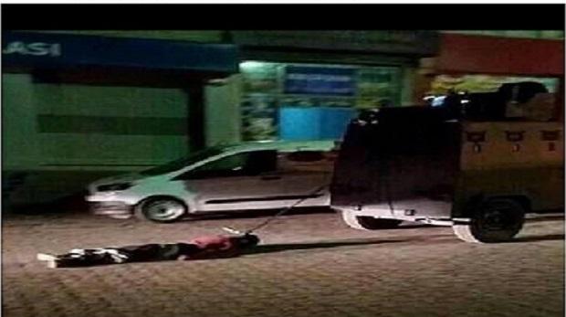 Polis aracına bağlı cesedinin sırrı ortaya çıktı