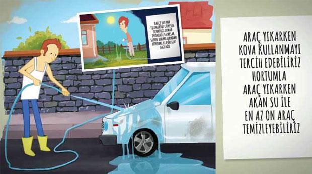Su tasarrufu için animasyonlar hazırlandı