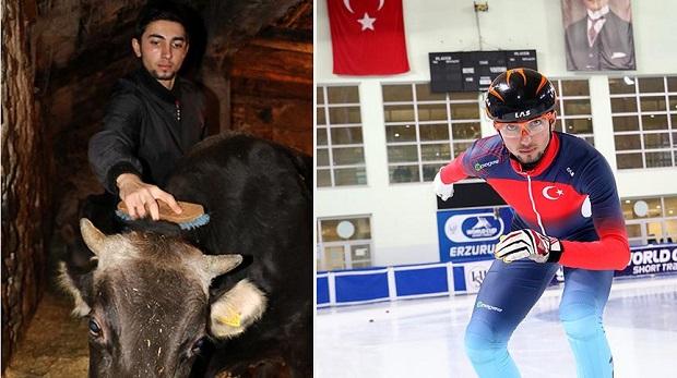 Köyde 'çoban' buz pistinde 'kral'