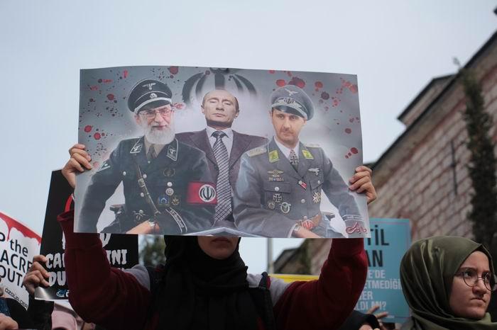 Doğu Guta'daki Katliam İstanbul'da gerçekleştirilen yürüyüşle lanetlendi!