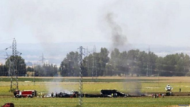 İspanya'da askeri uçağımız düştü