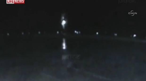 İşte Rusya'daki uçak kazasının görüntüleri