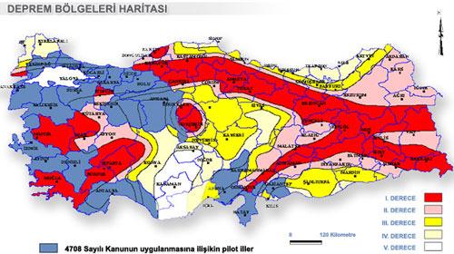 İşte 1. derece deprem bölgesi olan iller