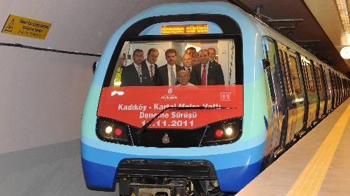 Kadıköy-Kartal Metrosunda Test Sürüşü