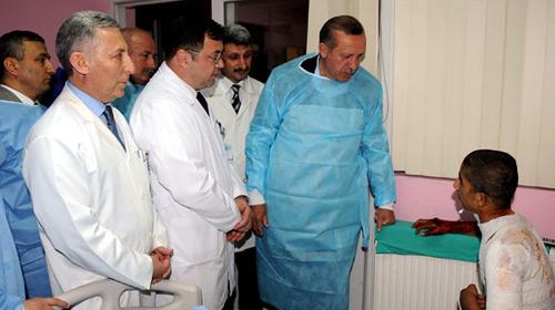Başbakan'dan Yaralı Fidan'a Ziyaret