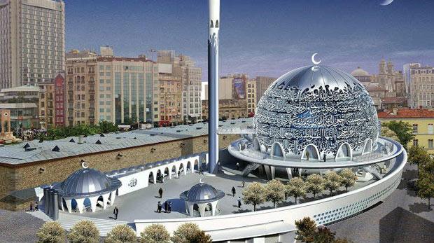 Taksim'e cami yapılıyor