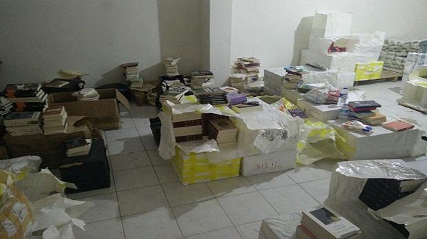 Korsan Sevim bu sefer 15 bin kitapla yakalandı