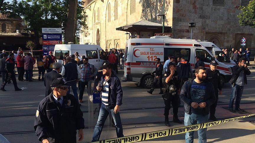 Bursa Ulu Cami yakınında terör saldırısı: 13 yaralı