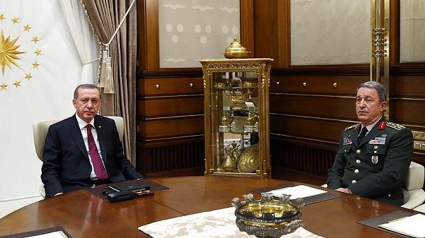 Cumhurbaşkanı Erdoğan Akar'dan bilgi aldı