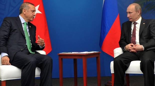 Erdoğan ve Putin'den 50 dakikalık sürpriz görüşme