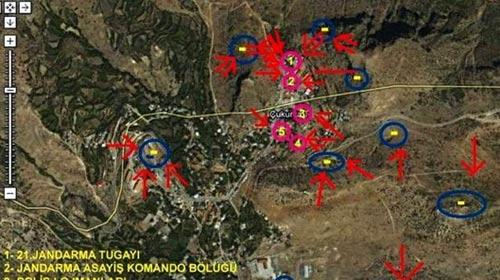 İşte Saldırı Anının Uydu Fotoğrafı