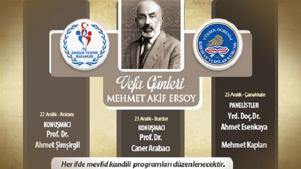 KYK'dan Mehmet Akif'e vefa