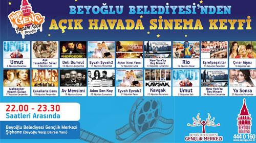 Beyoğlu'nda Ramazan'a Özel Açık Hava Sineması