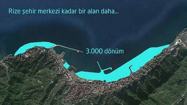 Rize'de denizin üzerine şehir kurulacak