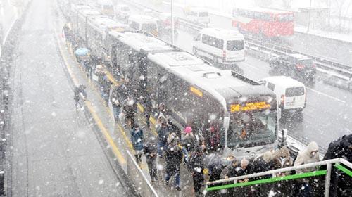 Metrobüs Seferleri Durduruldu