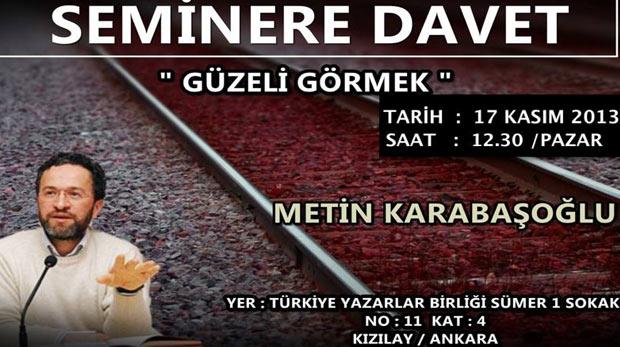 Metin Karabaşoğlu Ankara TYB'de