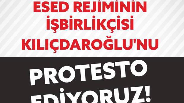Kılıçdaroğlu'na Suriye protestosu