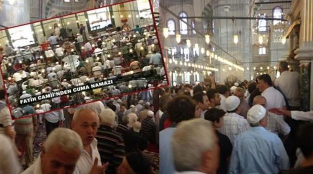 Fatih Camii'nde cuma namazında olay çıktı