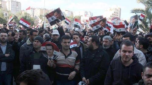Sol ve İran yanlısı örgütlerden Esed için birlik