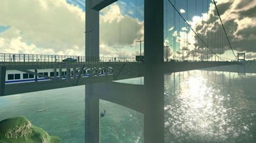 Üçüncü Köprü'nün içinden tren geçecek