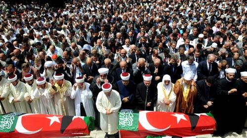 Gazze Şehitleri Dualarla Uğurlandı