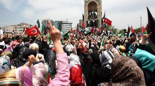 Gazze İçin Onbinler Taksim'deydi!