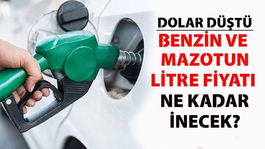 Dolar düştü benzin ve motorin fiyatlarına indirim gelecek mi