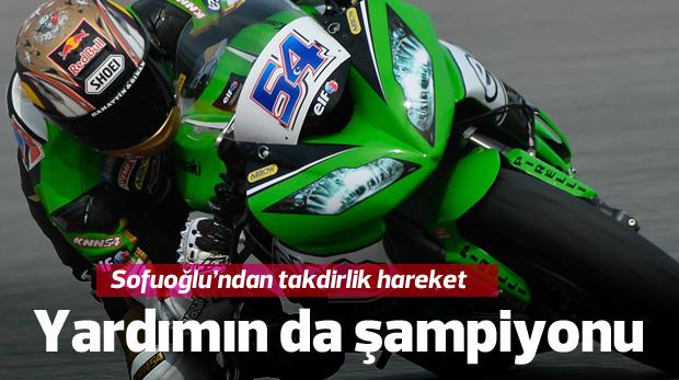 Yardımın da şampiyonu Kenan Sofuoğlu