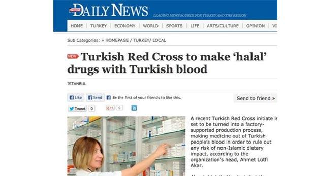 Hürriyet Kızılay'ı Türk Kızılhaç'ı yaptı