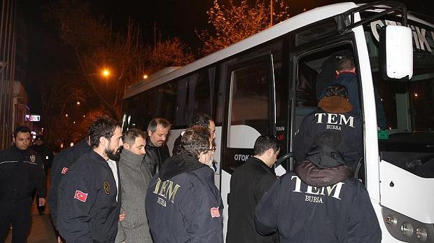 Bursa'daki FETÖ/PDY operasyonunda 11 kişi aliyede