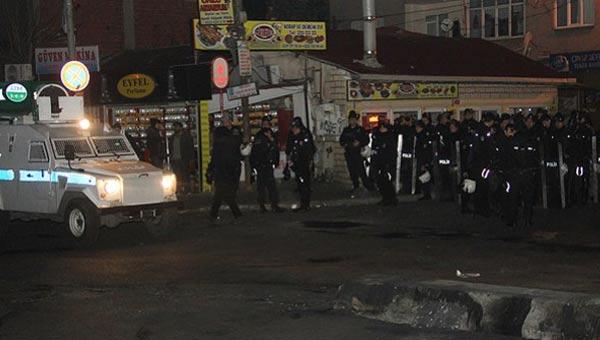 Okmeydanı'nda polisin bulunduğu alana silah atıldı