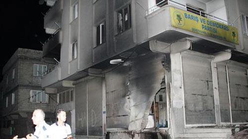 Gaziantep'te BDP binası ateşe verildi