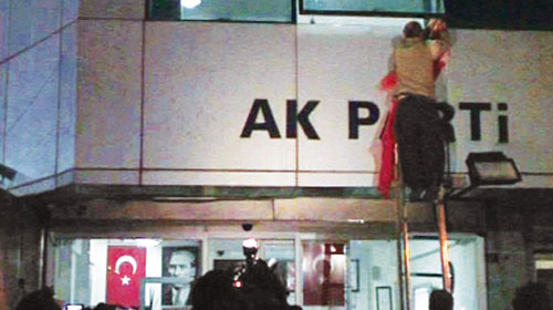 AK Parti Binasında İşgal