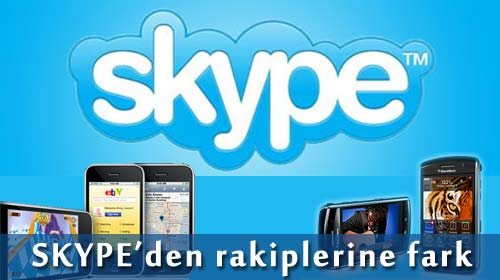 Skype iPhone ve BlackBerry'de!