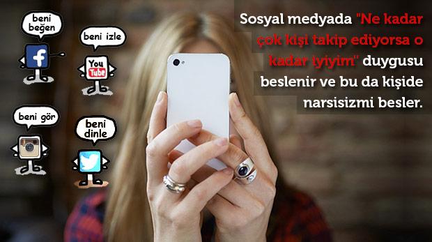 Sosyal medya narsisizmi besliyor