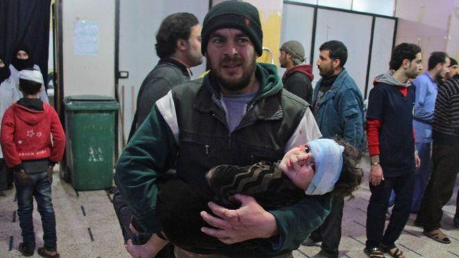 Doğu Guta'daki bombardıman devam ediyor