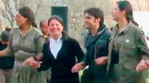 Teröristlerle halay çekti üyeliği askıya alındı