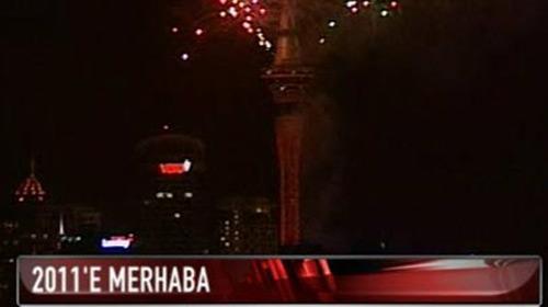 Yeni Zelanda 2011'e Merhaba Dedi
