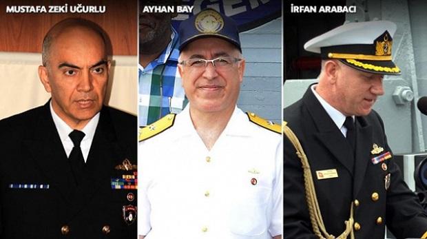İşte kaçak amiral ve generaller