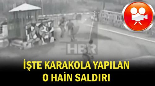 Trabzon'da karakola saldırının görüntüleri