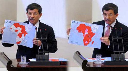 Davutoğlu'ndan 10 yılı anlatan 2 harita