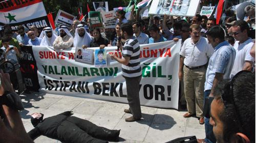 İstanbul'da Suriye Halkına Destek Mitingi