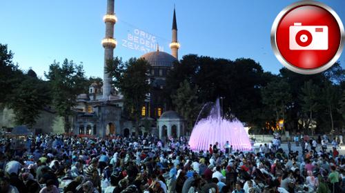 Eyüp Sultan'da Ramazan İzdihamı