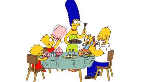 Simpsonslar Sağlıklı Beslenecek!