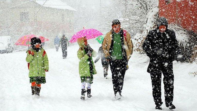 2 İlde okullara kar tatili (14 Ocak Pazartesi)